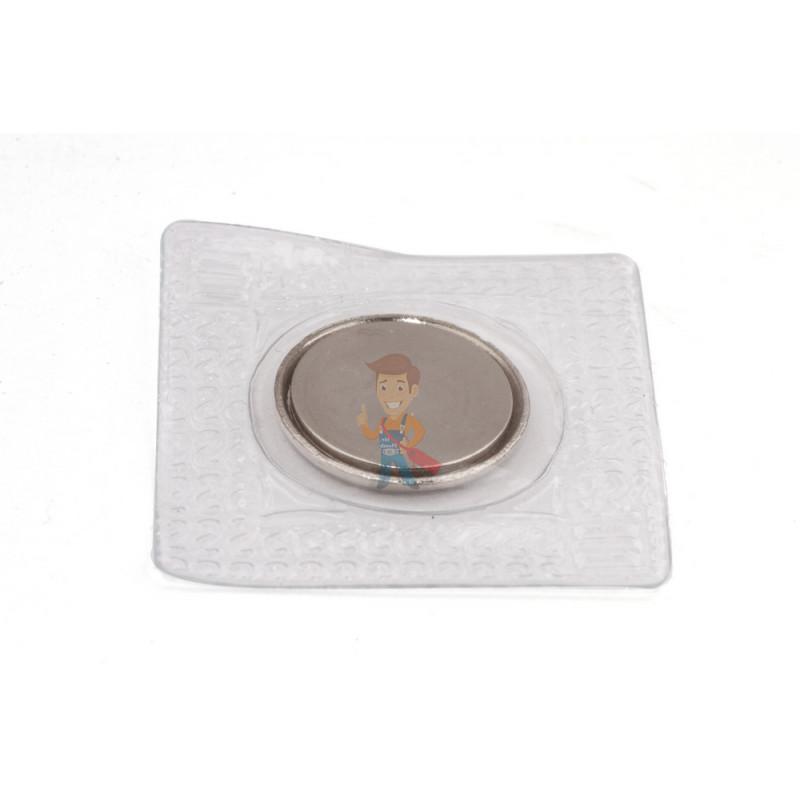 Магнитная застежка 15х2 мм с ПВХ - фото 1
