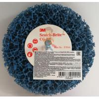 Круг лепестковый торцевой конический 566A  P60, 125 мм х 22 мм - Шлифовальный круг Scotch-Brite™ Clean and Strip CG-ZS, S XCS, голубой, 100 мм х 13 мм, шпиндель 6 мм, 57016