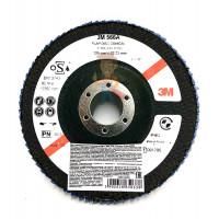 Круг лепестковый торцевой конический 566A  P60, 125 мм х 22 мм - Круг лепестковый торцевой конический 566A  P40, 125 мм х 22 мм