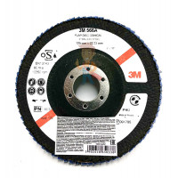 Круг Зачистной  T27, 180 мм х 7,0 мм х 22,23 мм - Круг лепестковый торцевой конический 566A  P40, 125 мм х 22 мм
