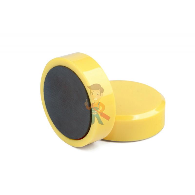 Магнит для магнитной доски Forceberg 30 мм, желтый, 10шт. - фото 1