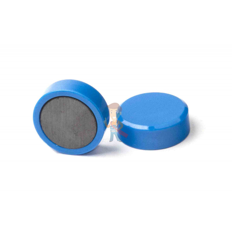 Магнит для магнитной доски FORCEBERG 20 мм, синий, 10шт. - фото 1