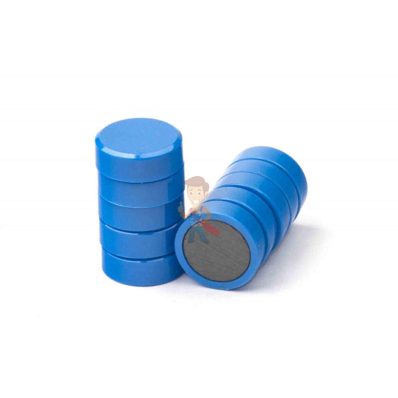Магнит для магнитной доски FORCEBERG 20 мм, синий, 10шт. - фото 2