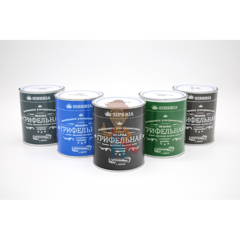 Грифельная краска Siberia 1 литр, зеленый, на 5 м - фото 2
