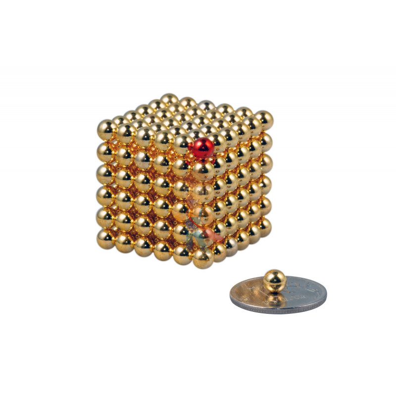 Forceberg Cube - куб из магнитных шариков 5 мм, золотой, 216 элементов - фото 1
