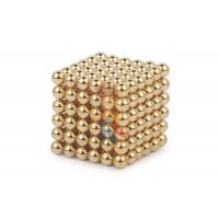 Forceberg Cube - куб из магнитных шариков 6 мм, синий, 216 элементов - Forceberg Cube - куб из магнитных шариков 5 мм, золотой, 216 элементов