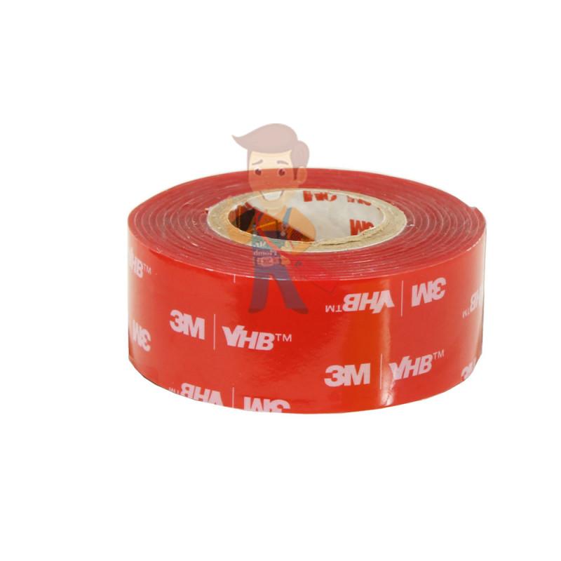 Клейкая лента универсальная 3М VHB 4910F, двусторонняя, прозрачная, 25ММ x 1М - фото 2