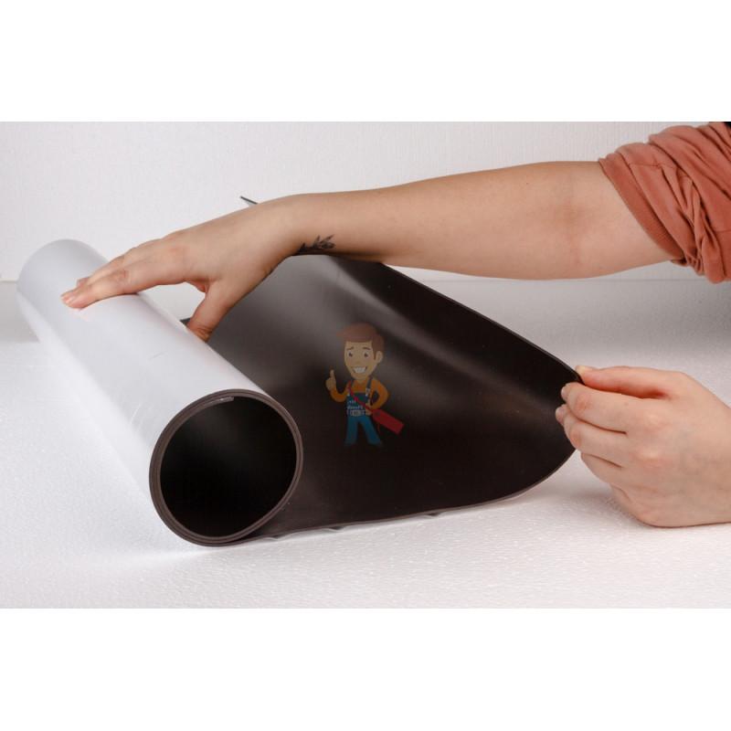 Магнитный винил с клеевым слоем 0.62 x 10 м, толщина 2.0 мм - фото 1