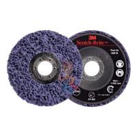 Круг лепестковый торцевой  шлифовальный конический 967A, 125 мм х 22 мм, 40+ - Круг для очистки поверхности XT-RD, S XCS, фиолетовый, 115 мм х 22 мм (замена 51889)