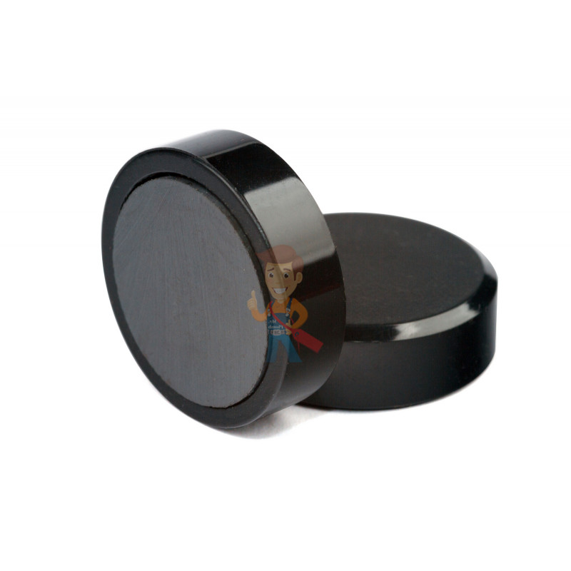 Магнит для магнитной доски Forceberg 30 мм, черный, 10шт. - фото 1