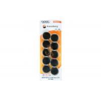 Магнит для магнитной доски Forceberg 30 мм, синий, 10шт. - Магнит для магнитной доски Forceberg 30 мм, черный, 10шт.