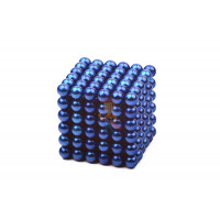 Forceberg TetraCube - куб из магнитных кубиков 6 мм, черный, 216 элементов - Forceberg Cube - куб из магнитных шариков 5 мм, синий, 216 элементов