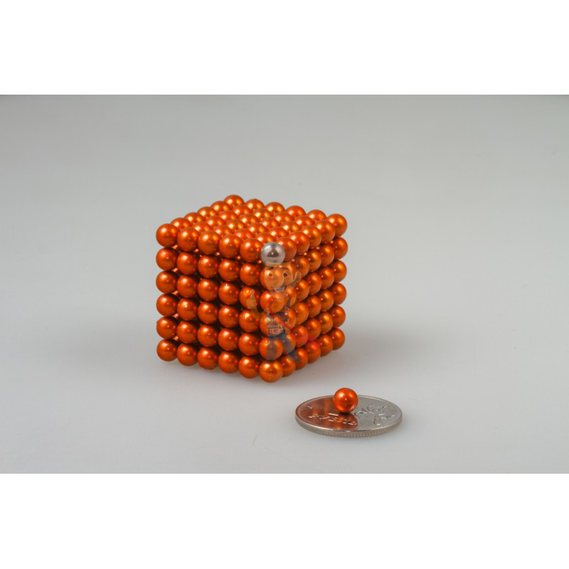 Forceberg Cube - куб из магнитных шариков 5 мм, оранжевый, 216 элементов - фото 1