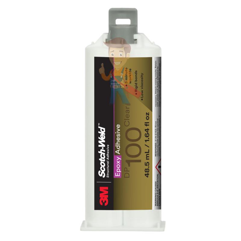 Клей эпоксидный двухкомпонентный, прозрачный, 48,5 мл 3M Scotch-Weld DP100