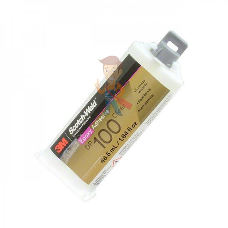 Клей эпоксидный двухкомпонентный, прозрачный, 48,5 мл 3M Scotch-Weld DP100 - фото 1