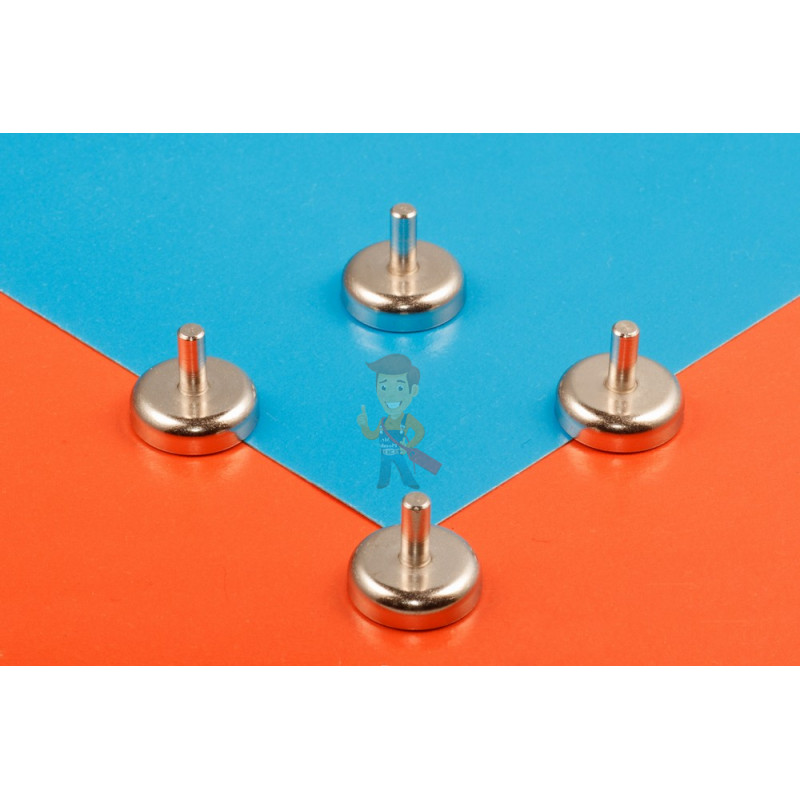 Магнитное крепление D20 со стержнем - подставка на магните для топпера, ценников, рамок, плакатов - фото 6