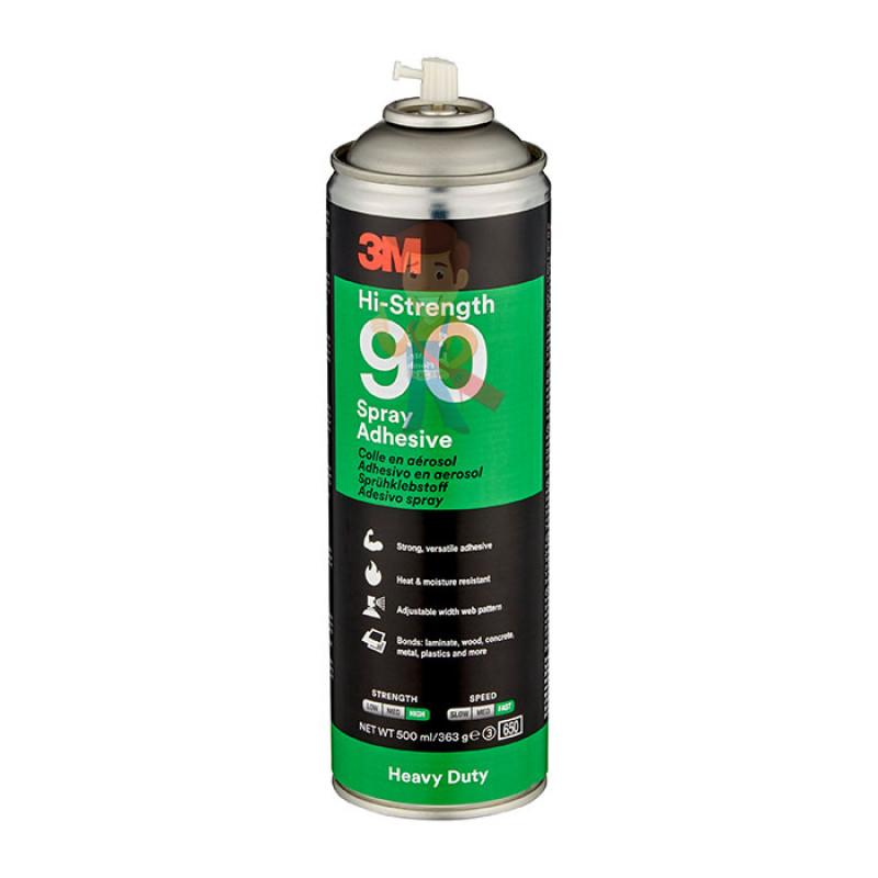 Клей-спрей Hi-Strength 90, эластомерный однокомпонентный, прозрачный, 500 мл - фото 1