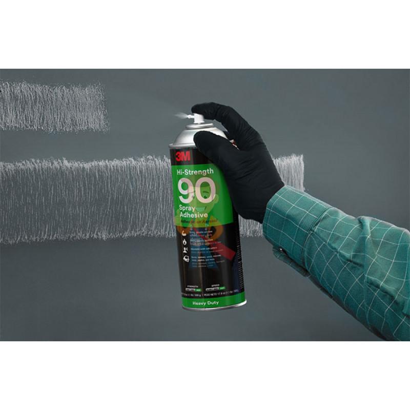 Клей-спрей Hi-Strength 90, эластомерный однокомпонентный, прозрачный, 500 мл - фото 6
