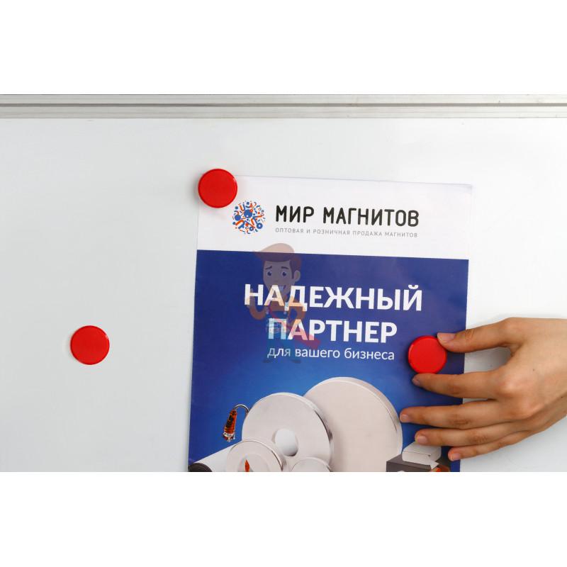 Магнит для магнитной доски Forceberg 30 мм, красный, 10шт. - фото 4