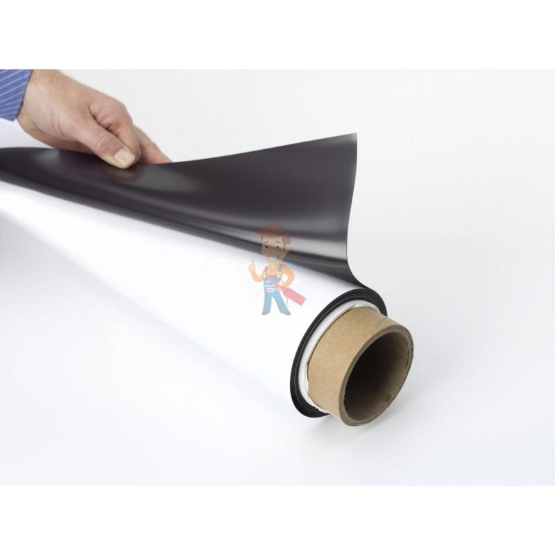 Магнитный винил с ПВХ слоем, лист 0.62х5 м, толщина 0.4 мм - фото 1