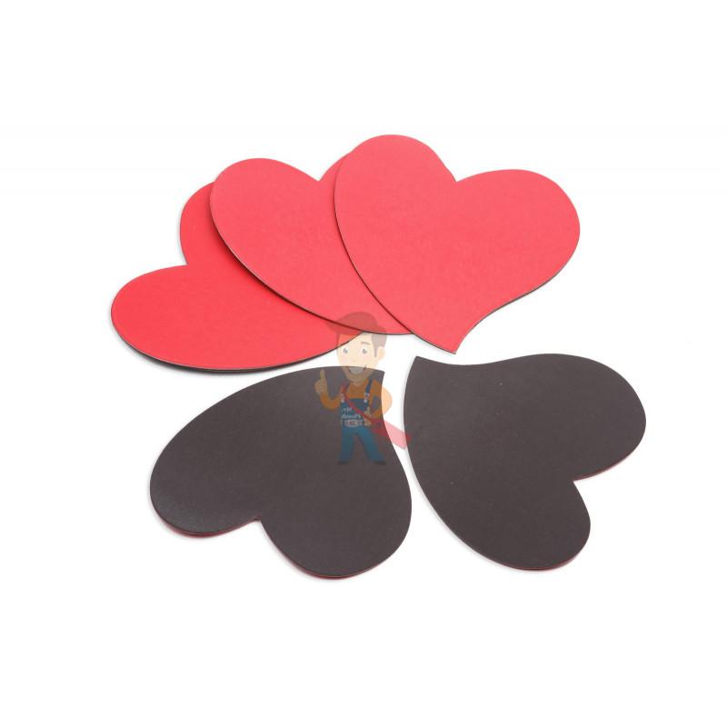 Магниты-сердечки, Forceberg, комплект из 5 шт - фото 2
