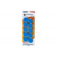 Магнит для магнитной доски Forceberg 30 мм, синий, 10шт. - Магнит для магнитной доски Forceberg 30 мм, синий, 10шт.