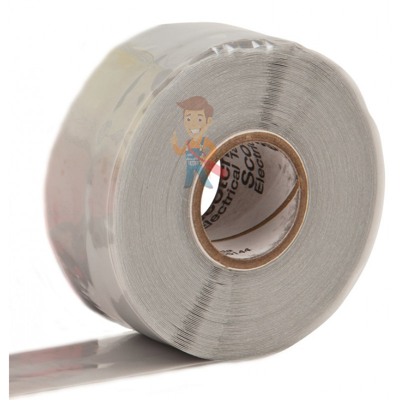 Изолента самослипающаяся силиконовая Scotch® 70, рулон 25 мм х 9 м - фото 1