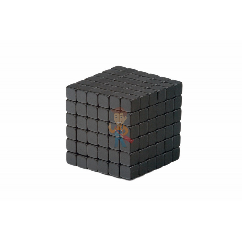 Forceberg TetraCube - куб из магнитных кубиков 5 мм, черный, 216 элементов