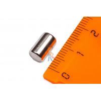 Магнитная застежка 12х2 мм с ПВХ - Неодимовый магнит пруток 6х10 мм
