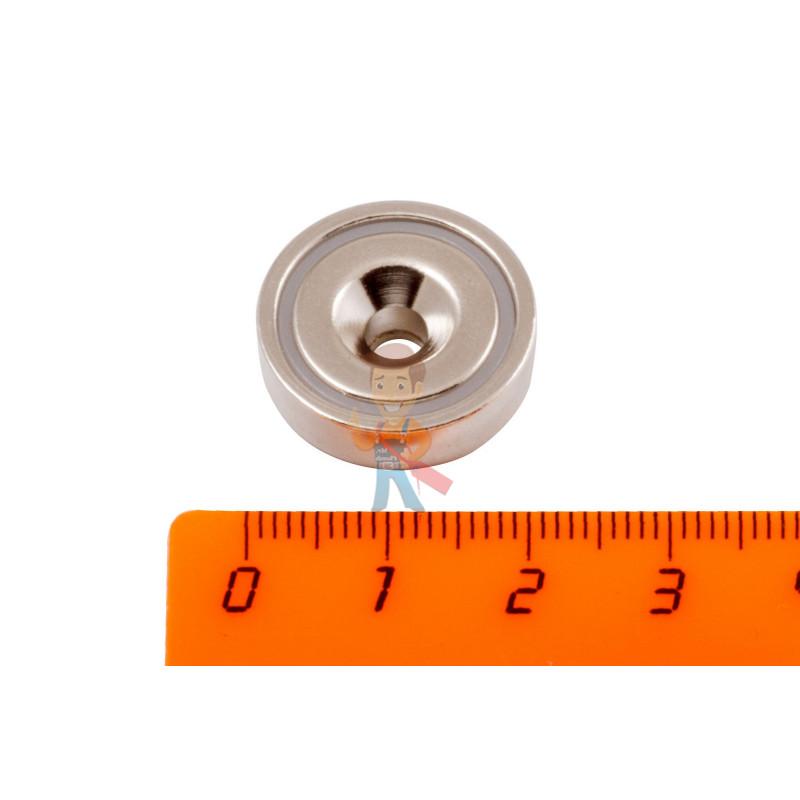 Магнитное крепление Forceberg с отверстием для самореза A20, 4 шт - фото 2