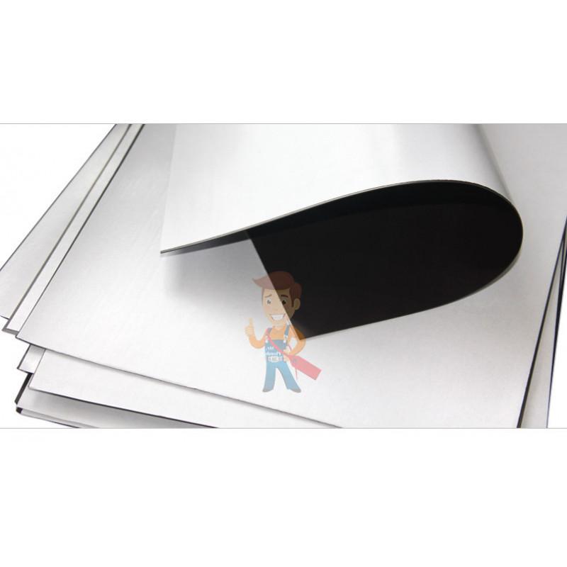 Магнитный винил с клеевым слоем, лист 0.62х5 м, толщина 0.9 мм - фото 3