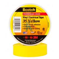 Изолента резиново-мастичная Scotch® 2228, 50 мм х 3 м - ПВХ изолента высшего класса Scotch® 35, желтая, 19 мм х 20 м