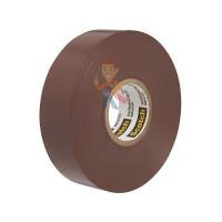 Изолента ПВХ Морозостойкая высшего класса, рулон 25 мм х 33 м - ПВХ изолента высшего класса Scotch® 35, коричневая, 19 мм х 20 м