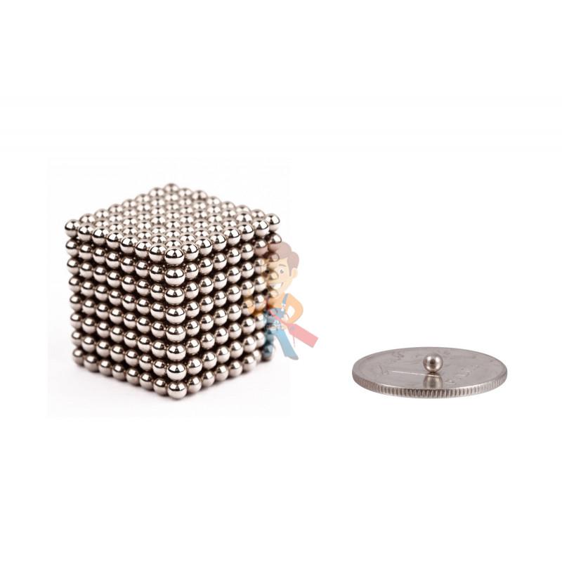 Forceberg Cube - куб из магнитных шариков 2,5 мм, стальной, 512 элементов - фото 1