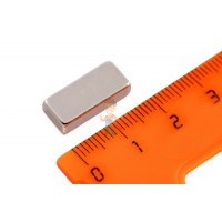 Магнитная застежка 18х2 мм с ПВХ - Неодимовый магнит прямоугольник 13х5.7х3 мм, N33H