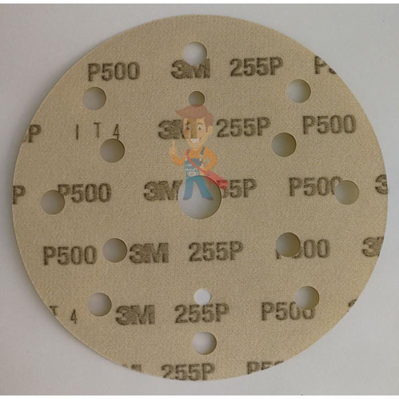 Круг абразивный 255P+, золотой, 15 отв, Р500, 150 мм, 3M™ Hookit™ - фото 3