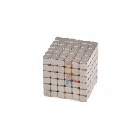 Forceberg Cube - куб из магнитных шариков 2,5 мм, оливковый, 512 элементов - Forceberg TetraCube - куб из магнитных кубиков 7 мм, стальной, 216 элементов