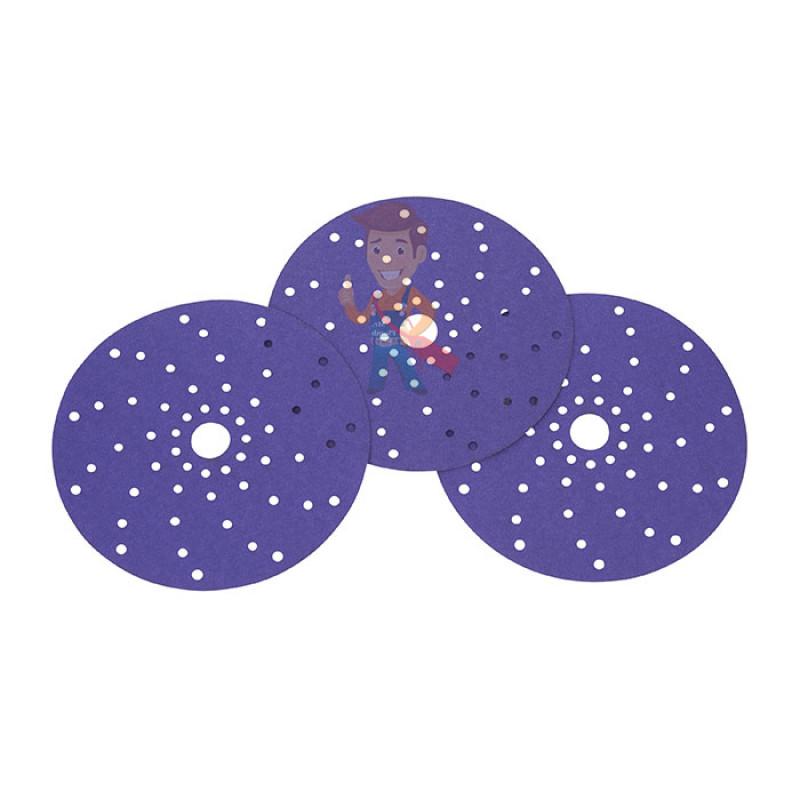 Круг абразивный c мультипылеотводом Purple+, 180+, Cubitron™ Hookit™ 737U, 150 мм - фото 8