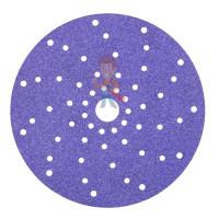 Круг Абразивный, золотой, 15 отверстий, Р80, 150 мм,3M™ Hookit™ 255P+, 10 шт/уп - Круг абразивный c мультипылеотводом Purple+, 180+, Cubitron™ Hookit™ 737U, 150 мм