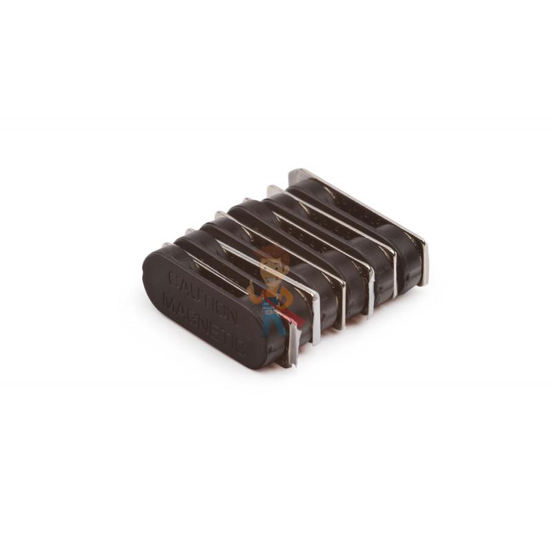 Магнитное крепление для бейджей 33х12 мм, пластик - фото 2