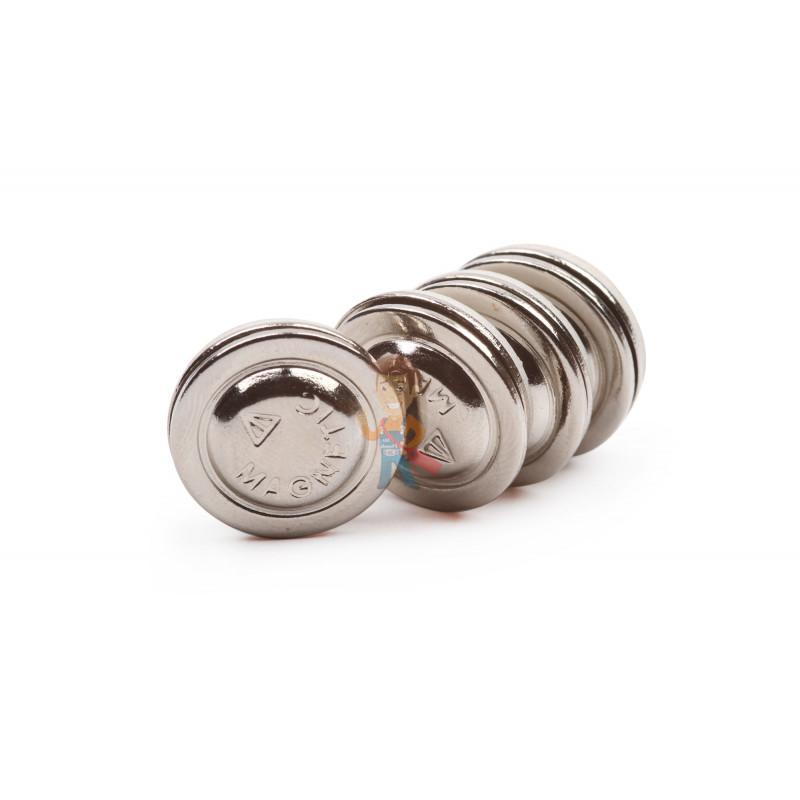 Магнитное крепление для бейджей D17 (металл) - фото 2