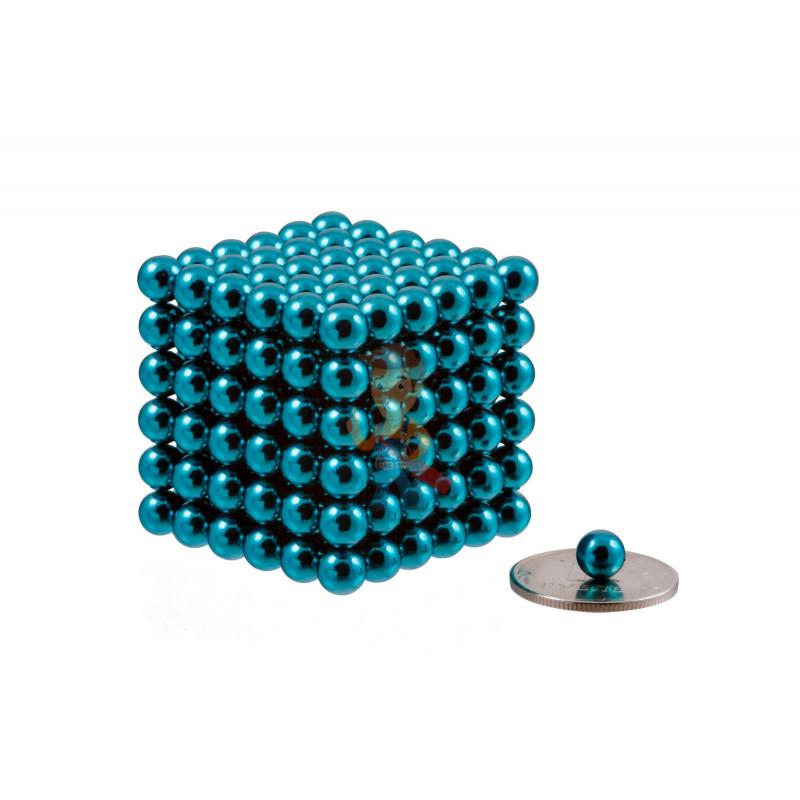 Forceberg Cube - куб из магнитных шариков 6 мм, бирюзовый, 216 элементов - фото 1