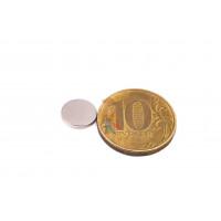 Магнитное крепление с отверстием В16 - Неодимовый магнит диск 10х1 мм