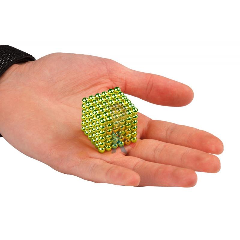 Forceberg Cube - куб из магнитных шариков 6 мм, оливковый, 216 элементов - фото 2