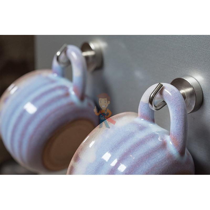 Крючки на неодимовом магните Forceberg Е16 (М4), сила сц. 4 кг, 6 шт. - фото 7