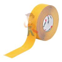Лента cигнальная Scotch 4705, черно-желтая, 50 мм х 33 м х 0.15 мм - Лента противоскользящая средней зернистости, универсальная, желтая,  50,8 мм x 18,3 м