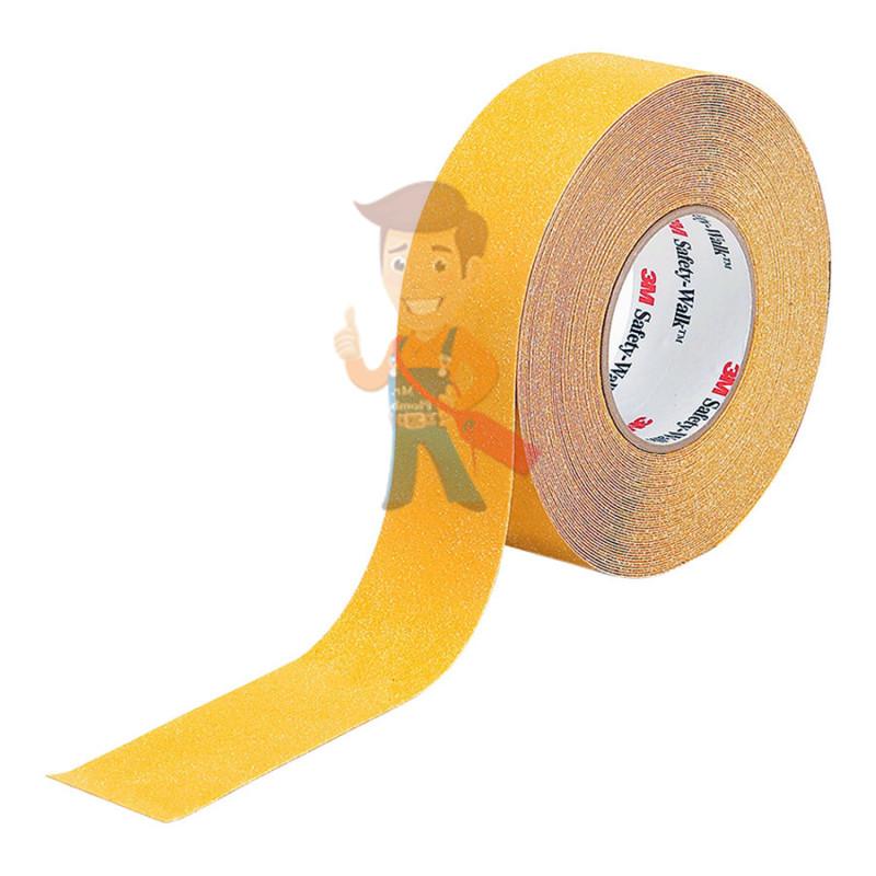 Лента противоскользящая средней зернистости, универсальная, желтая,  50,8 мм x 18,3 м