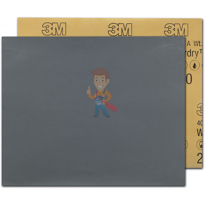Лист Абразивный, микротонкий, 2000А, 138 мм х 230 мм, 3M™ Wetordry™ 401Q, 10 шт/уп - фото 1