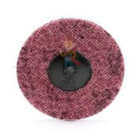 Круг лепестковый торцевой конический 566A  P40, 125 мм х 22 мм - Шлифовальный круг Scotch-Brite™ Roloc™ SC-DR, A MED, 75 мм, 05531, 3 шт./уп.