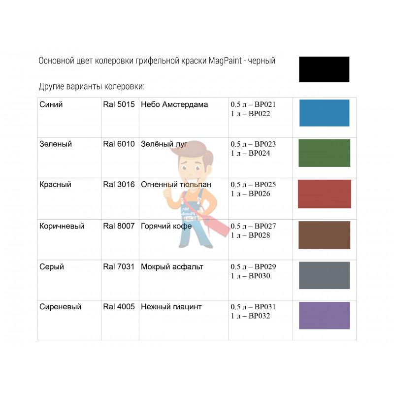 Грифельная краска MagPaint 0,5 литра, на 2,5 м² - фото 9